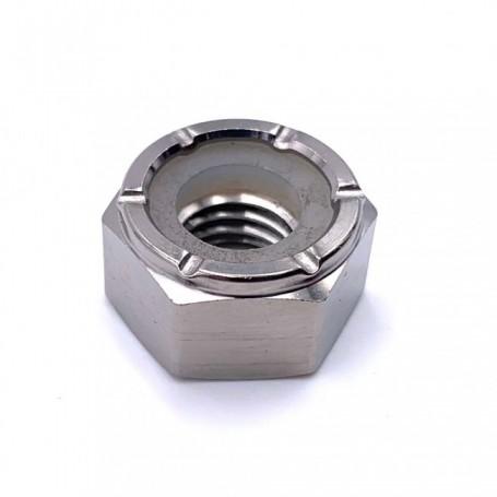Ecrou Hexagonal Nylstop en Titane M10 x (1.25mm) - DIN 985 Naturel